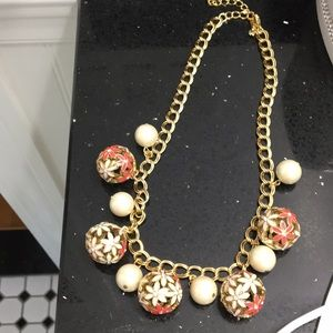 Kate Spade Flower Ball Necklace.
